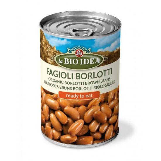 Bio Fasole bruna Borlotti la conserva 400g Bio Idea