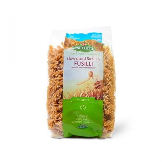"""Bio Fusilli """"spirale"""" integrale din grau Sicilian 500g Bio Idea"""