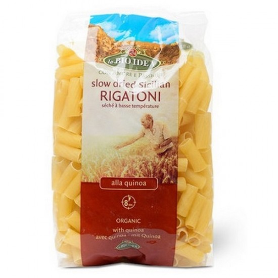 "Bio Paste din grau dur Sicilian cu quinoa ""RIGATONI' 500g Bio Idea"