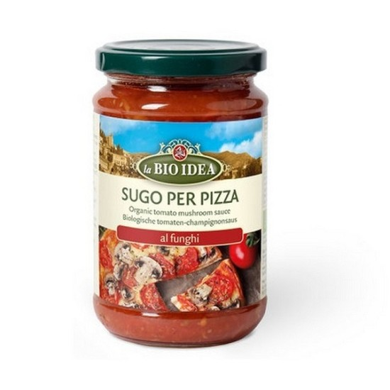 Sos vegetarian pentru pizza cu ciuperci 300g ,,fara zahar'' Bio Idea