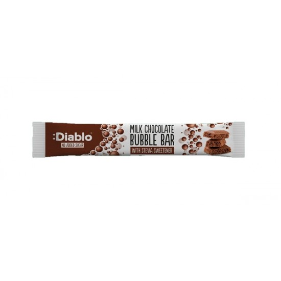 """Ciocolată aerata cu lapte 30g """"fără gluten, fara adaos de zahăr"""""""