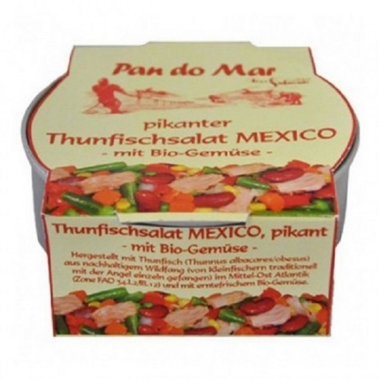 "Salata picanta de ton cu amestec mexican de legume 250g ""fara gluten"" Pan Do Mar"