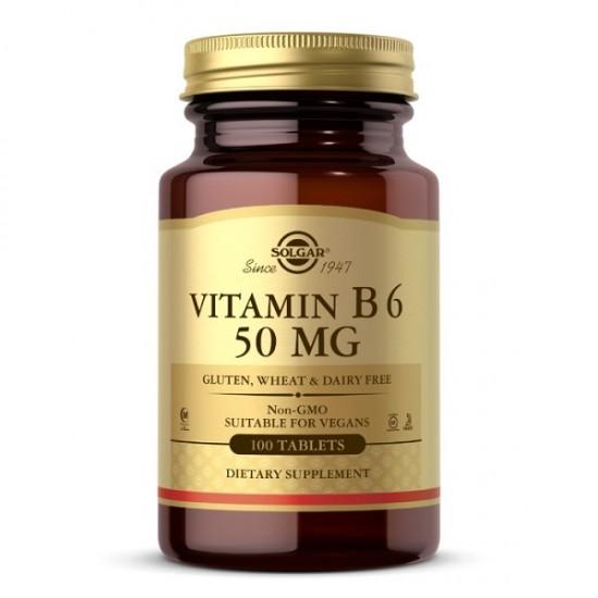 Vitamina B-6 50Mg 100 tablete