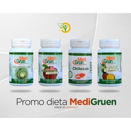Pachet dieta MediGruen 200 capsule ,,Slabeste sanatos''